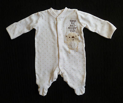 Baby clothes UNISEX BOY GIRL premature<7.5lbs/3.4kg cream/beige star babtgrow