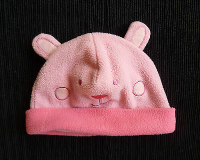 Baby clothes GIRL 6-12m TU warm fleece soft cotton-lined pink hat  SEE SHOP!