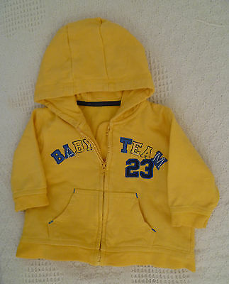 Baby clothes BOY 3-6m yellow lightweight hooded fleece zip jacket COMBINE POST!