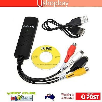Easier Cap Capture Card Video USB 2.0 VHS to DVD Adapter Converter PC PS3 XBOX