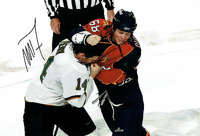 #68 Mike DUCO Ice HOCKEY FLORIDA Panthers Signed Autograph 12x8 Photo AFTAL COA
