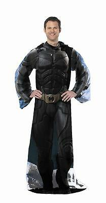 Batman The Dark Knight Comfy Costume Snuggie Throw Blanket Sleeves - watch & bid