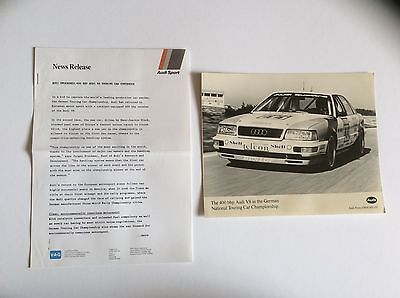 Audi 400 Bhp German Touring Car Press Release. Collectable Item Pr0079