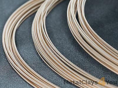 Yellow Gold-Filled Round Wire 14/20 (Half-hard) 0.4mm to 2.59mm