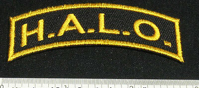 Set of 2 HALO Patches High Altitude Low Opening for Skydive Shirt Cap Rig 25Q