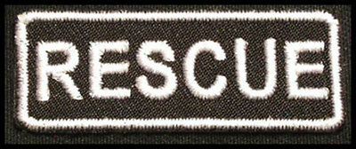 RESCUE Iron-on Patch/Badge for Fire Department Explorer T-Shirt Hat Cap Bag 25P