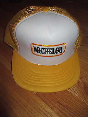 Vintage MICHELOB Beer (Adjustable Snap Back) Mesh Cap YELLOW