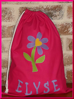 Child's/girls Personalised Name Library Bag /toy Bag  - Daisy -