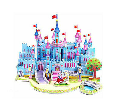 Chirstmas Gift For Kids Educational Toys 3D Paper Castle Puzzles For Children