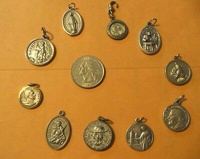 Vintage Catholic Religious antique Holy Medals-lot of 10 #3