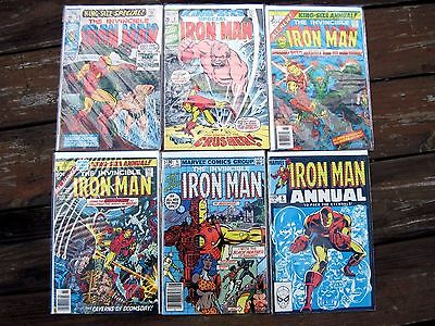 IRON MAN Annuals set of #'s:1 2 3 4 5 & 6 Specials/king-size. FN+ lot!