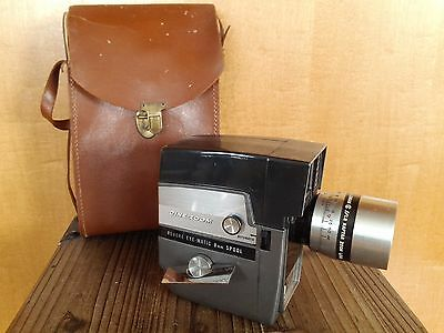 "Revere 8mm Movie Camera ""Cine-Zoom"" Model 141 with Wollensak Lens AS IS"