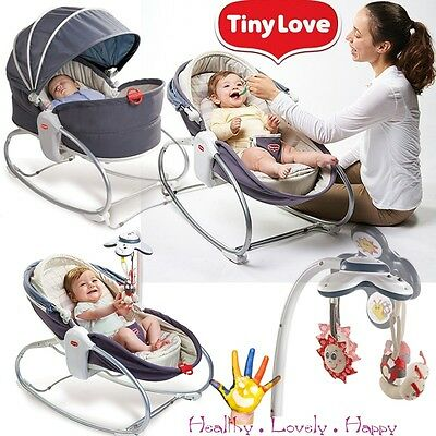 Tiny Love 3 in 1 Rocker Napper Baby Sleeping Feeding Vibrating Bouncer Chair Gre