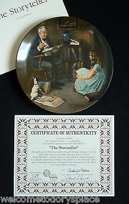 "Norman Rockwell ""The Storyteller"" Collectors Plate Heritage Collection Knowles"