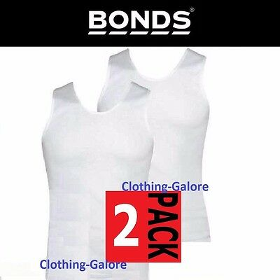 Bonds 2 Pack White Chesty Cotton Singlets Underwear Mens Singlet Vest -Free Post
