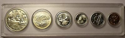 Gem Unc Canada 1959 6 Coin Mint Set With Silver~Excellent~Free Shipping