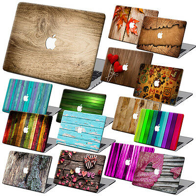 """Wood Painting Hard Case Cover +KB +SP For Macbook Pro Air 11""""13""""15"""" Retina 12"""""""
