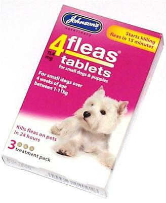 Johnsons Flea Tablet Tablets Treatment for Small Dogs Puppies Killing Trendy