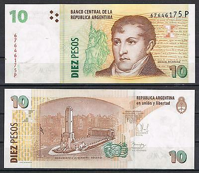 ARGENTINA - BILLETE 10 PESOS ND (2015) Pick 354   SC  UNC