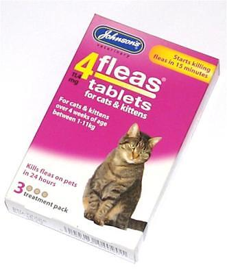 Johnsons Flea Tablet Tablets Treatment for Cats and Kittens Killing Fleas Trendy