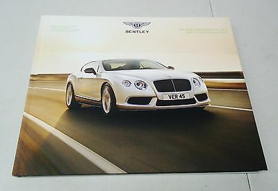 "Bentley ""the New Continental Gt V8 S And Gt V8 S Convertible"" Dealer Book"
