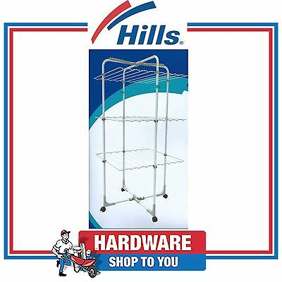 Hills Clothes Drying Rack Portable Clothesline, Mobile 3 Tier Airer-Finesse Trio