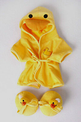 "Teddy Bear DUCK Robe & Slippers CLOTHES Fit 14""-18"" Build-a-bear !!NEW!!"
