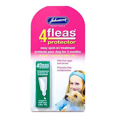 Johnson's 4fleas Puppies Small Dog Protector Flea 3 Month Drop Spot On Trendy