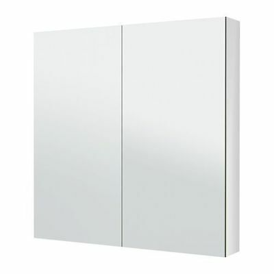 New Bathroom PENCIL EDGE Polyurethane Shaving Mirror Cabinet 750 x 750