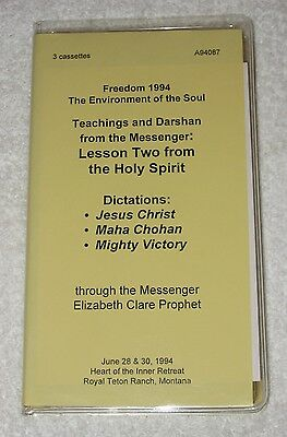 Lessons from the Holy Spirit - Elizabeth Clare Prophet - x3 cassettes