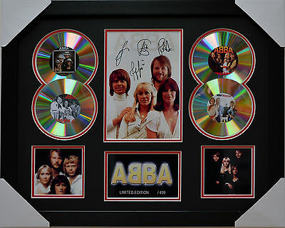 Abba Signed Memorabilia Framed 4 Cd Limited Edition Black