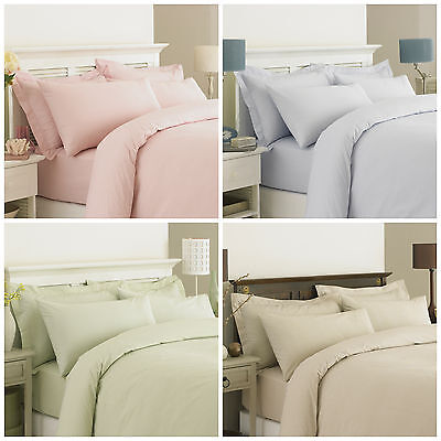 Egyptian Cotton Stripped Duvet Cover Set Cambridge Blue Red Single Double King