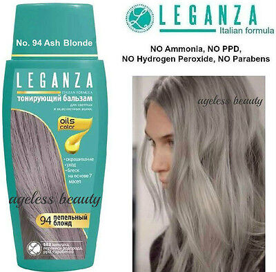 ASH BLONDE Hair Colouring Conditioner NATURAL OILS DYE COLOURANT NO Ammonia PPD