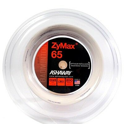 Ashaway Zymax 65 Badminton 200M Reel (Available in White, Yellow or Red)