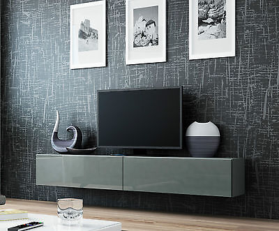 BMF VIGO TV FLOATING WALL MOUNTABLE UNIT HIGH GLOSS FRONTS MOUNTED UNIT 180 cm