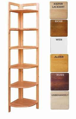 Eckregal 6 Böden 196 Cm Bücherregal Kiefer Massivholz Büroregal Weiß