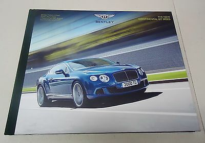 "Bentley ""the New Continental Gt Speed"" Hardback Dealer Brochure Book"