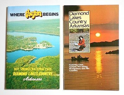 1970's Arkansas Diamond Lakes Country/Hot Springs National Park Booklets