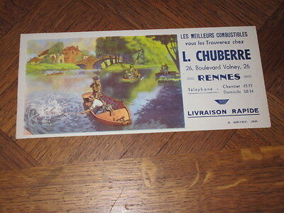 Buvard L.chuberre Rennes Combustibles Pecheurs Barque
