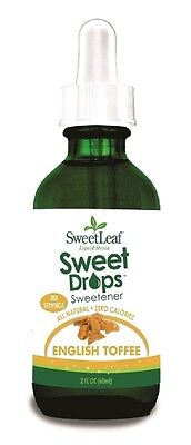 Sweet Leaf Stevia Liquid English Toffee 60ml - 288 Servings