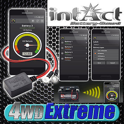 Battery Guard Monitoring System Gauge from your phone Tablet caravan AGM intAct