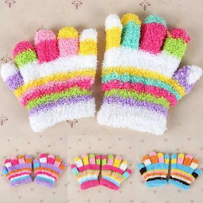 Toddler Magic Gloves Baby Kids Girls Boys Stretchy Knit Winter Soft Mittens A57