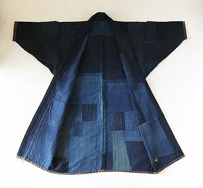 Japanese Antiques - Indigo Boro Jacket with Sashiko from 19th century
