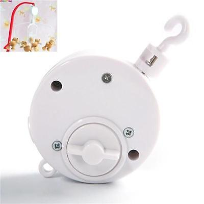White Baby Mobile Crib Bed Bell Toy Wind-Up Movement Music Box Machine Hotsale G