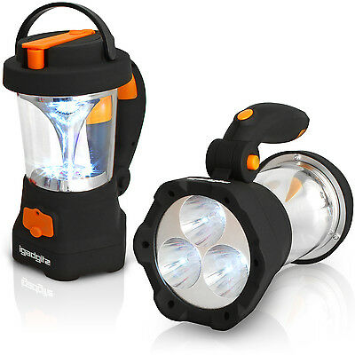 4 in 1 Wind Up Dynamo Rechargeable 3 LED Spotlight Torch 10 LED Lantern Camping