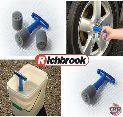 Richbrook Car Van Vehicle Alloy Wheel Nut, Cavity & Polish Cleaner & 2 Foam Pads