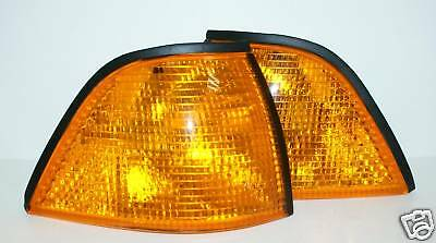 91-98 BMW 3-Series E36 2D COUPE AMBER Corner Turn Signal Lights Set LEFT+RIGHT