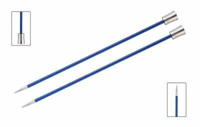KnitPro Zing 40cm Straight / Single Point Knitting Needles Aluminium
