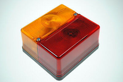 Britax Rear 4 function square rear trailer lamp to fit Ifor Williams - P0669