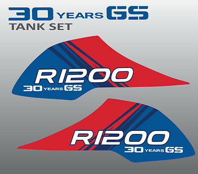 BMW R1200GS Adventure 30 years tank stickers decal set 2pcs R1200 GS Laminated 1